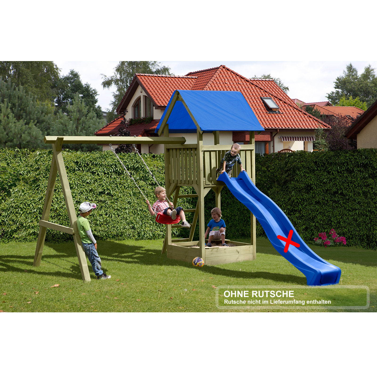 gartenpirat spielturm premium s mit schaukel und sandkasten rutsche optional ebay. Black Bedroom Furniture Sets. Home Design Ideas