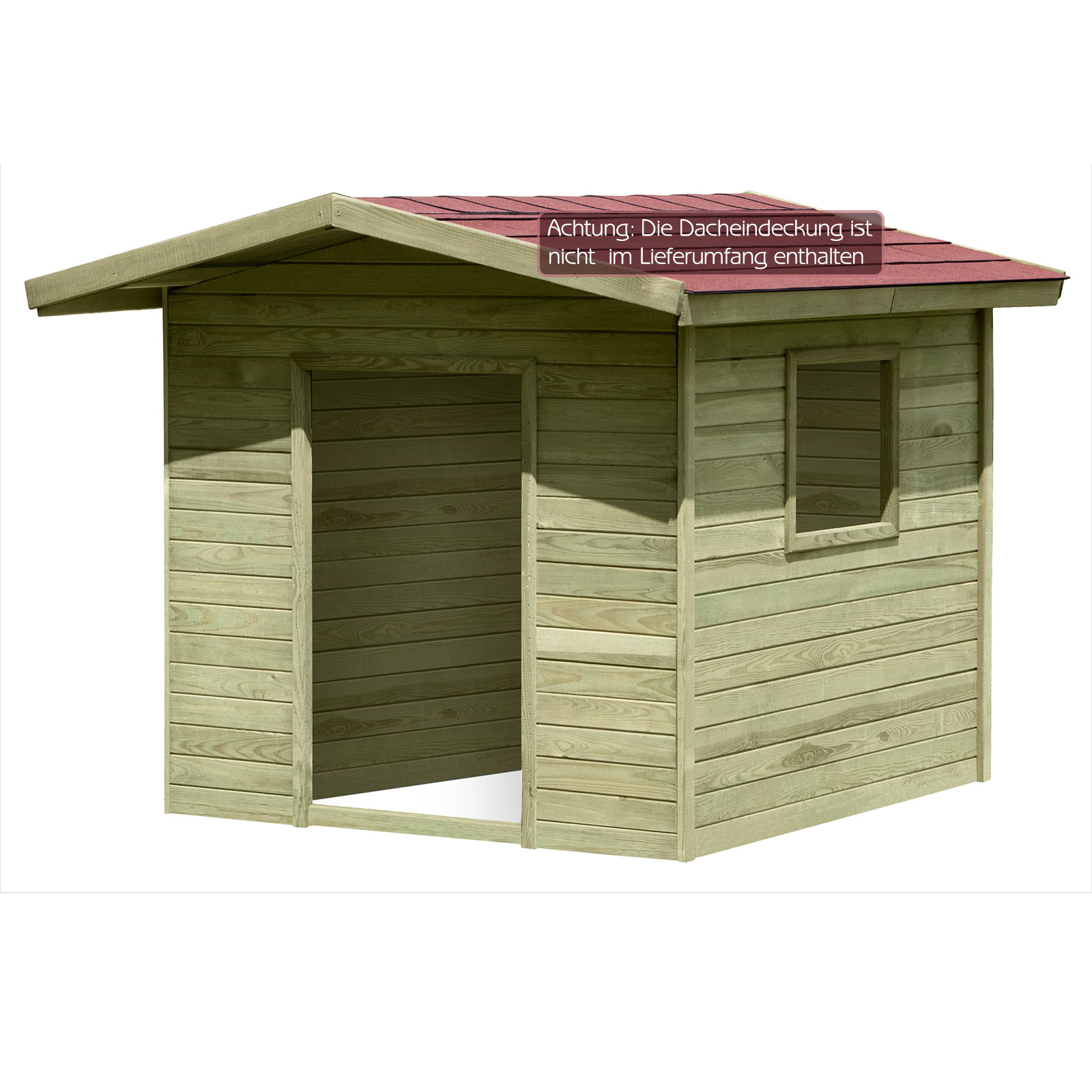 spielhaus lilli kinderspielhaus holzhaus gartenhaus f r kinder 1 2 x 1 2 m ebay. Black Bedroom Furniture Sets. Home Design Ideas