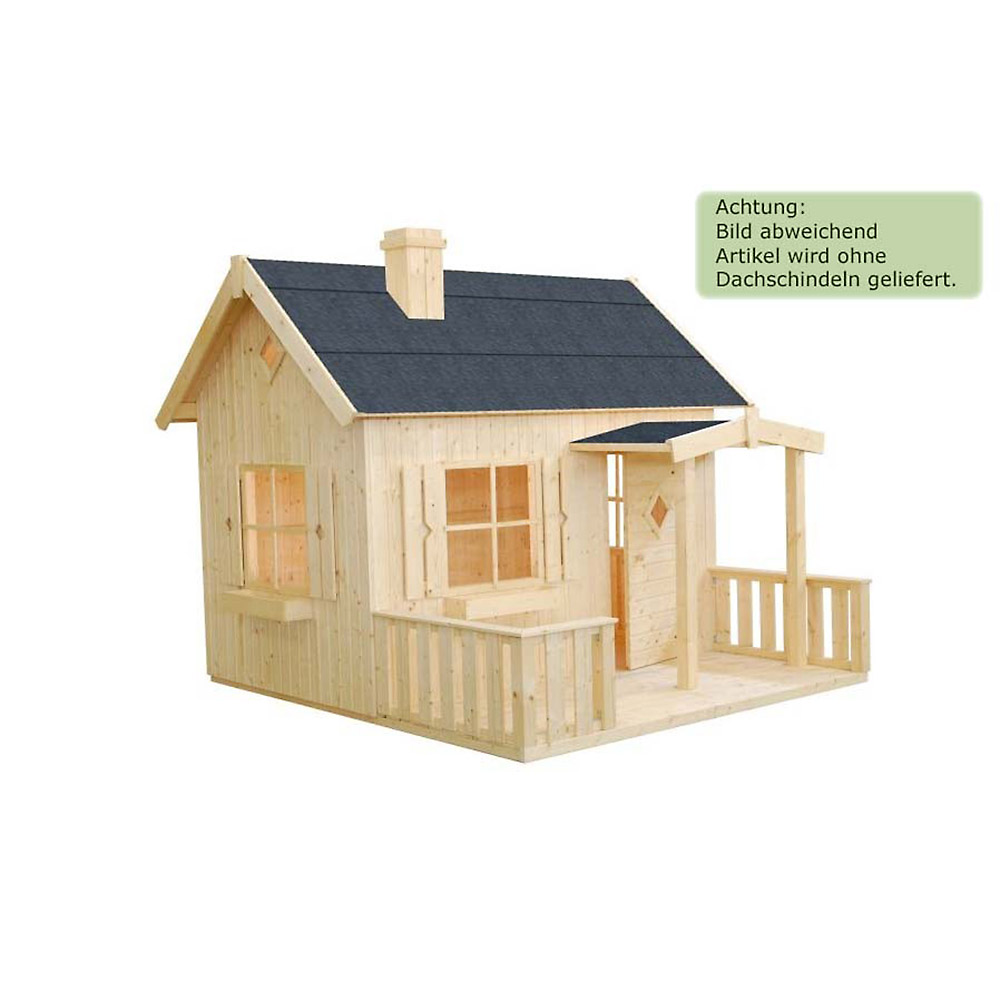 kinderhaus villa aus holz unbehandelt spielhaus 233x257 cm mit fu boden terrasse ebay. Black Bedroom Furniture Sets. Home Design Ideas