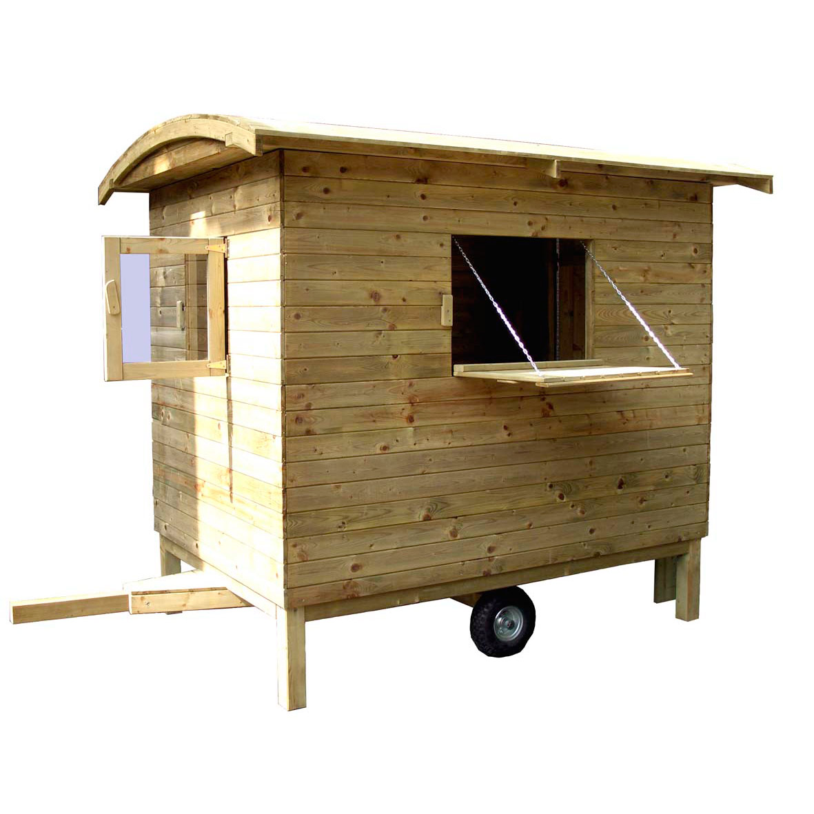 kinderspielhaus bauwagen aus holz holzhaus gartenhaus f r kinder von gartenpirat ebay. Black Bedroom Furniture Sets. Home Design Ideas