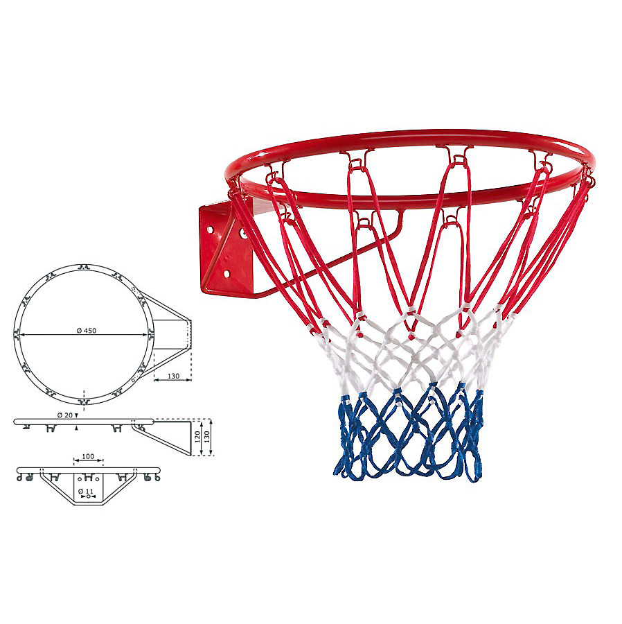 basketballkorb f r kinder 45 cm rot spielturmzubeh r von gartenpirat de ebay. Black Bedroom Furniture Sets. Home Design Ideas