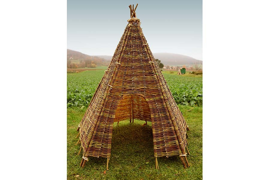 weiden zelt tipi 230 cm 160 cm spielzelt weidenhaus kinderzelt indianerzelt ebay. Black Bedroom Furniture Sets. Home Design Ideas