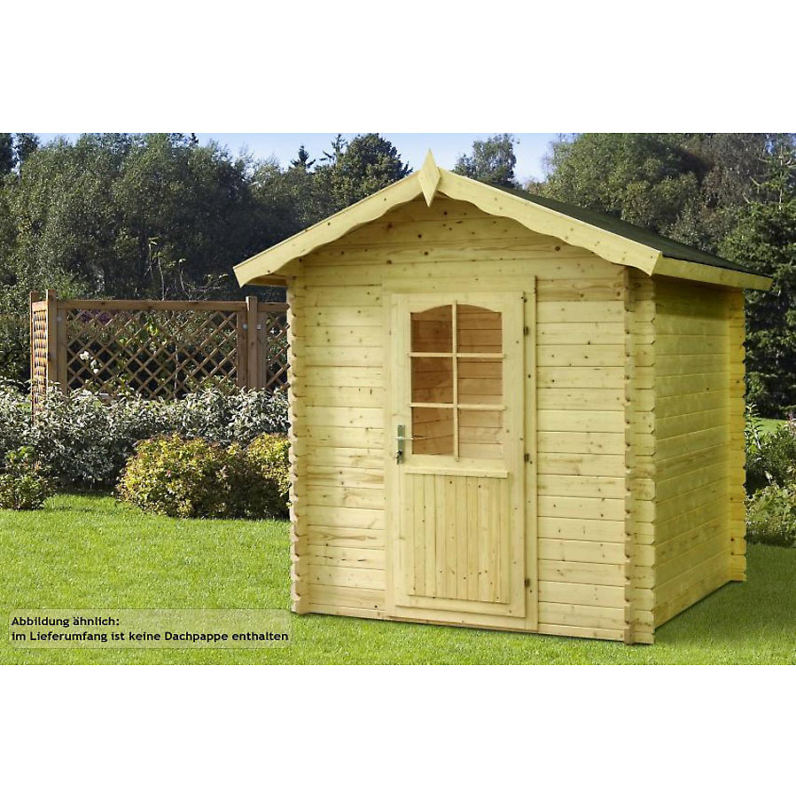 gartenhaus blockhaus leipzig 220 x 220 cm aus holz mit fu boden wandst rke 28 mm ebay. Black Bedroom Furniture Sets. Home Design Ideas
